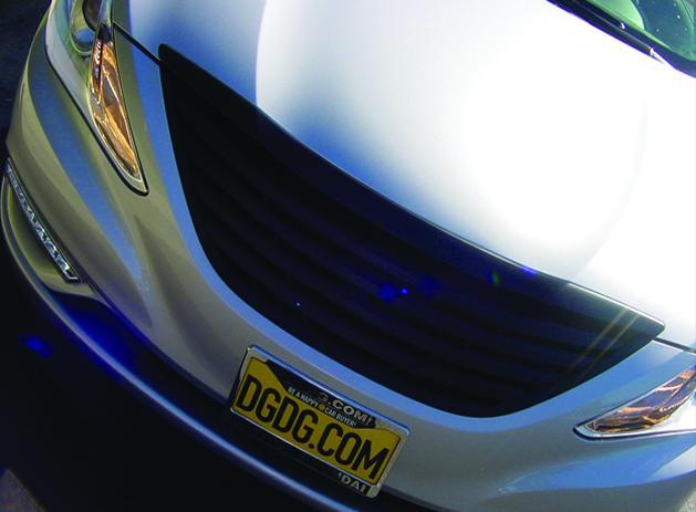 Custom, black, front bumper