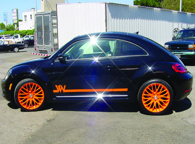 "19"" MRR wheels custom powder coated Window tint  Carbon Fiber roof wrap Custom VW body graphics"