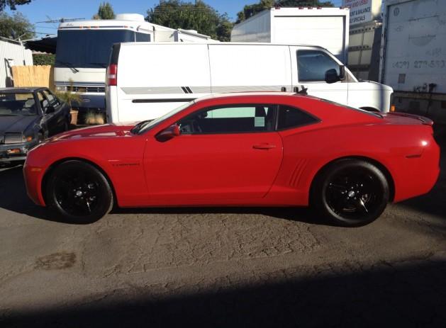 "2012_Chevy_Camaro_Red 18"" custom powder coated OEM wheels  Custom phanton grille"