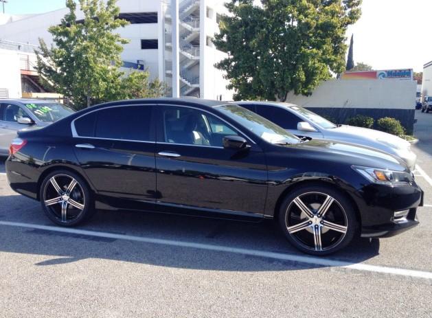 "20"" MSR wheels/tires Limo tint on rear windows Carbon Fiber roof wrap"